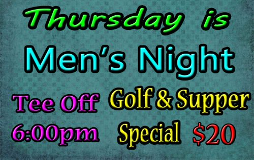 Wynyard Golf Course Men's Night