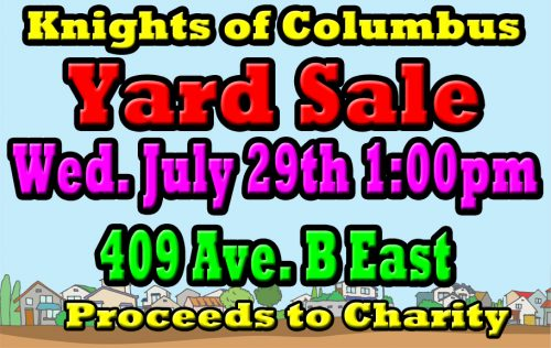 Knights of Columbus Yard Sale