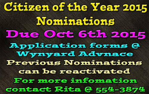 2015 Citizen of The Year Nominations