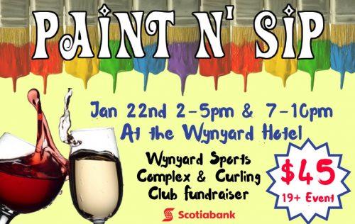 Paint n' Sip Fundraiser Night @ Wynyard Hotel
